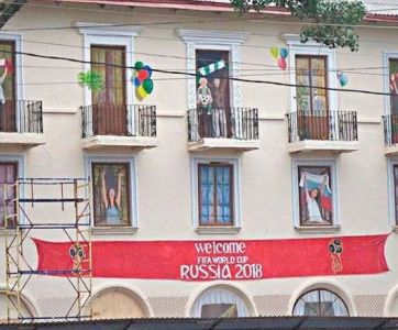 Russia, Rostov, Potemkin village, window dressing, FIFA World Cup