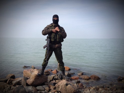 Sivash Saline, dividing Crimea from mainland Ukraine. A photograph from a social profile by deputy commander of the intelligence company of the intelligence battalion Ruslan Serikov.