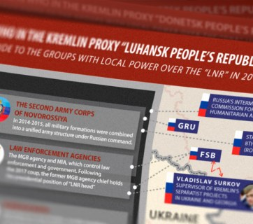 Influential groups in occupied Luhansk