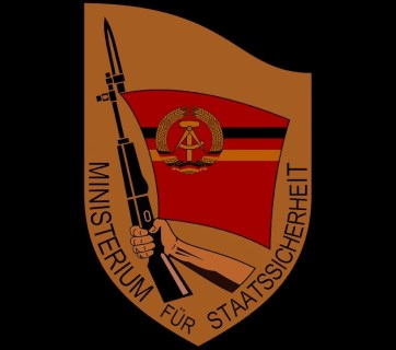 The official seal of the Ministry for State Security of the German Democratic Republic (East Germany), commonly known as the Stasi. The Stasi was a close partner of the Soviet KGB. (Image: Wikipedia)