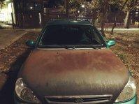 Rusty car in Armyansk. 17 September. Source: Twitter/KrumRt