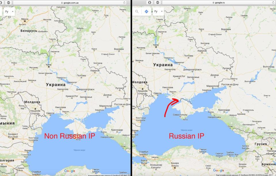 Open Street Map Decides To Mark Crimea As Russian Territory