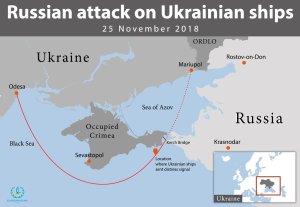 Russian 25 November attack on Ukrainian ships