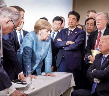 G7 summit in La Malbaie, Canada on 9 June 2018. The leaders stand by their joint communique, although Donald Trump subsequently withdrew his support. Photo: Bundesregierung / Denzel @ bundeskanzlerin.de