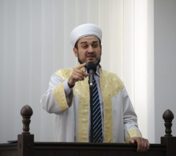 Ayder Rustemov, the Mufti of the Spiritual Directorate of Muslims of Crimea, who is now living in exile in Kyiv because of his opposition to the Russian annexation of the Ukrainian peninsula. Photo: qha.com.ua