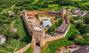 Aerial view of Lubart Castle.