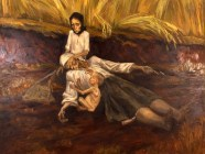 """Mother of 1933,"" a Holodomor remembrance painting by Nina Marchenko, 2000"