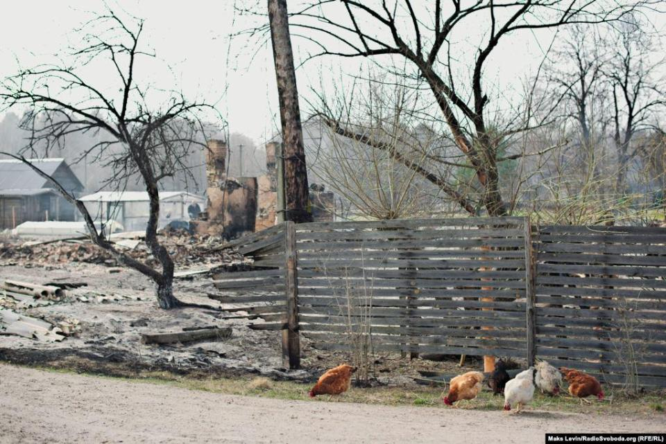 Street of Lichmani village after the fire