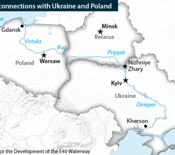 E40 waterway is to go through Poland, Belarus and Ukraine and to connect the Baltic and the Black Seas