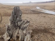 The dry bed of the Ayan Water Reservoir that supplied Simferopol, Crimea's second-largest city with population over 300,000. December 2020. (Source: RoksolanaToday&КрымUA @KrimRt on Twitter)