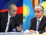 Russian Federation President Vladimir Putin and Kazakhstan President Kasym-Jomart Tokayev