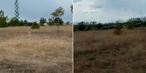 Russian army's field military camp at the Pogonovo military training ground south of Voronezh. Screenshots: CIT