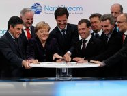 The ceremony of opening of Russia's Nord Stream 1 pipeline supplying gas to Germany on November 8, 2011, which was attended by Angela Merkel, the German Chancellor, and Dmitry Medvedev, then the President of Russia, along with German and Russian energy industry heads. Source: kremlin.ru