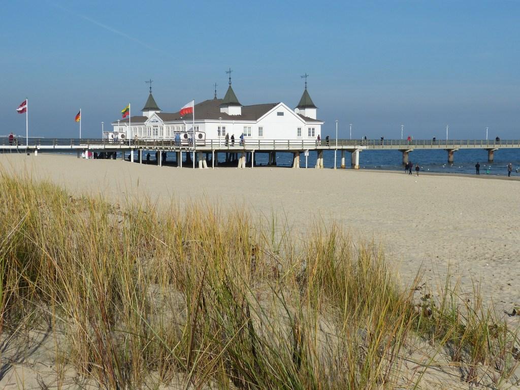 Ostsee Insel Usedom, Seebrücke Ahlbeck, Strand
