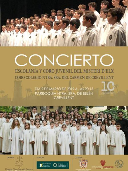 La Escolanía del Misteri D'Elx participa en el X aniversario del Coro de las Carmelitas de Crevillente