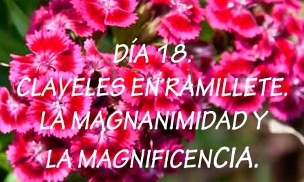 DÍA 18. CLAVELES EN RAMILLETE. LA MAGNANIMIDAD Y LA MAGNIFICENCIA.