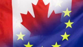 Canadian and European flag © EU