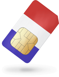 Triple Format French prepaid data SIM – 1000MB data