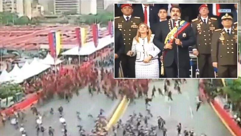 """Nicolás Maduro sufre """"un intento de asesinato"""" con drones explosivos y culpa al presidente Santos"""