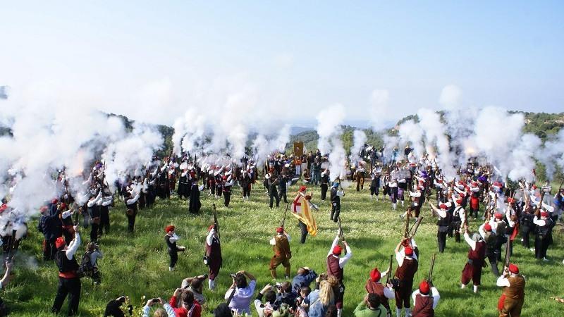 Conmemoracion La Batalla del Bruc contra los franceses en 1808