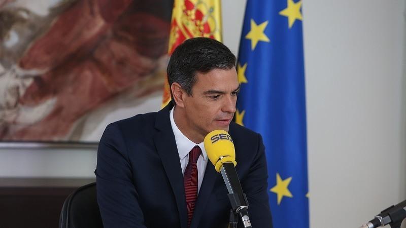 El presidente del Gobierno, Pedro Sanchez, durante la entrevista en el programa Hoy por hoy de la Cadena Ser.