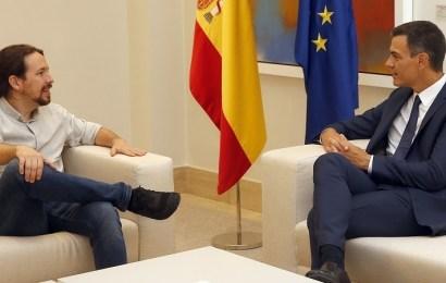 Sánchez e Iglesias anuncian una amplia batería de acuerdos para fortalecer su alianza estratégica, aprobar los PGE en octubre y agotar la legislatura