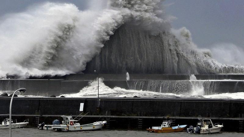 El tifon Jebi fue la tormenta mas fuerte que golpeo las principales islas de Japón en 25 años. © Kyodo