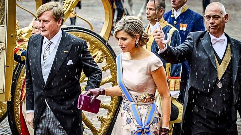 El Rey Willem-Alexander y la Reina Máxima de los Países Bajos en el Dia del Príncipe