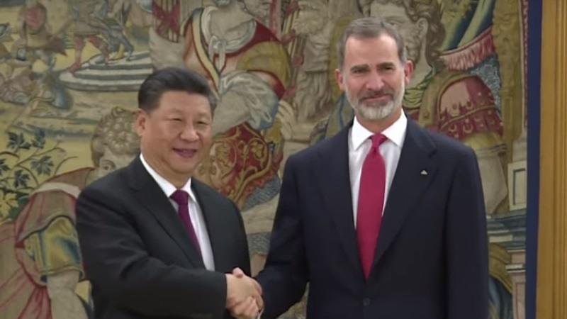 El Rey Felipe VI recibe al presidente de China, Xi Jinping