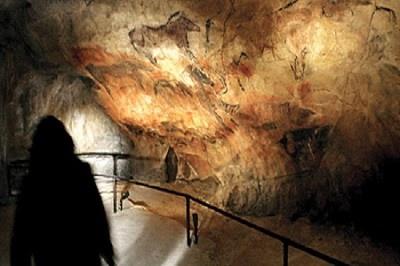 Interior de la cueva de Altamira