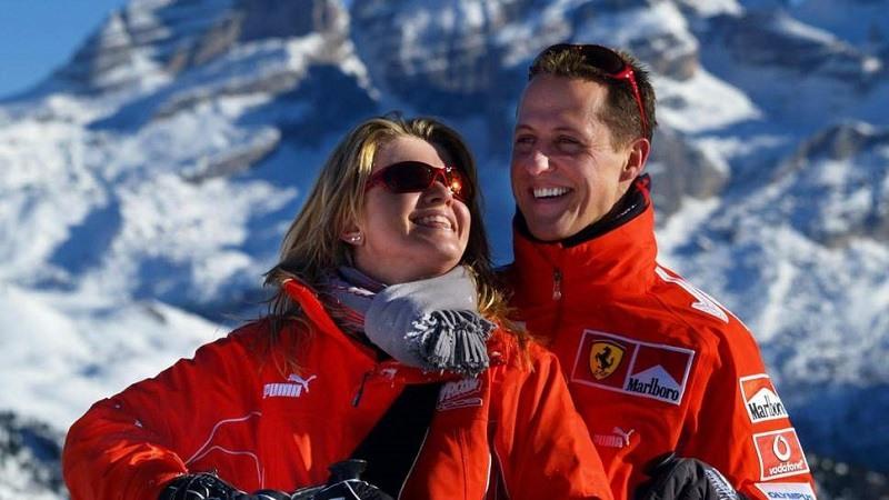 Michael Schumacher y su esposa Corinna en 2005