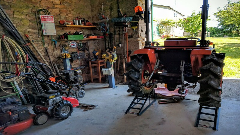 herramientas de un taller casero
