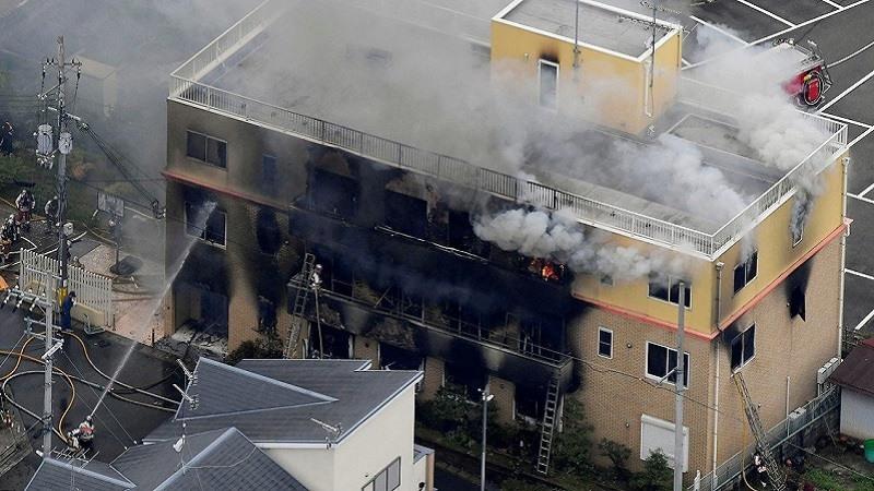 Incendio estudio animacion Japon
