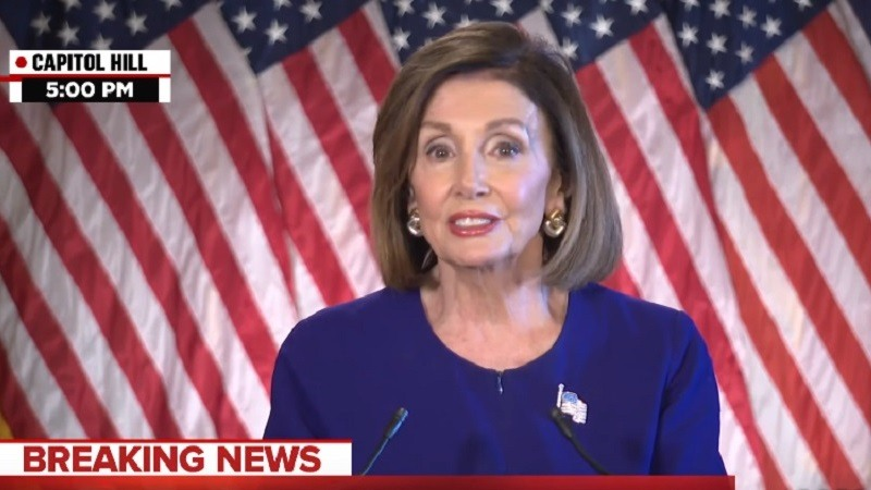 Nancy Pelosi anuncia una investigacion formal contra Trump
