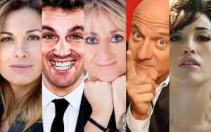 La Conduttrice e i 4 Giudici di Italia's Got Talent: Vanessa Incontrada, Frank Matano, Luciana Littizzetto, Claudio Bisio e Nina Zilli