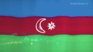 Postcard flags of Eurovision 2014 - Azerbaijan
