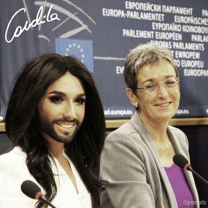 Conchita Wurst, Press Conference in the European Parlament