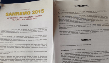 Festival di Sanremo 2015: il regolamento