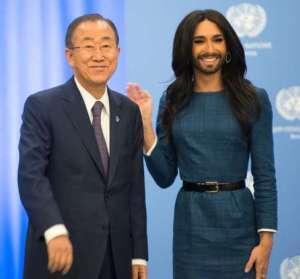 Ban Ki-moon e Conchita Wurst