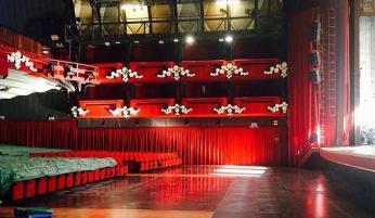 Teatro Ariston in allestimento