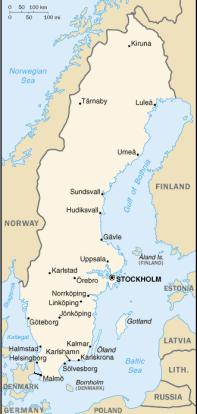Svezia-Mappa