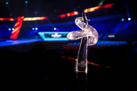 The official trophy of Eurovision Choir of the Year is a glass sculpture and was made by Vineta Groza, Associate Professor of the Art Academy of Latvia and Head of the Department of Glas