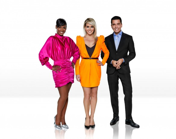 Eurovision 2020 presenters Edsilia Rombley, Chantal Janzen and Jan Smit1