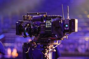 A camera used at the Eurovision Song Contest