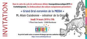 Grand Oral européen #4 : M. Alain CAZABONNE - Sénateur de la Gironde