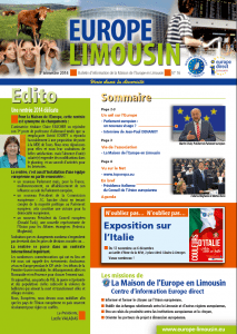 Page 1 Europe Limousin n°16