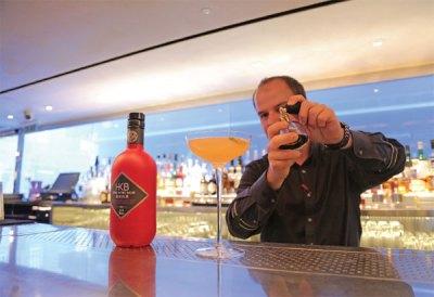 a bartender makes baijiu based cocktail in central london ...