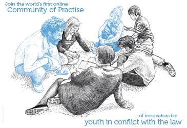 An on-line community for youth in conflict with the law