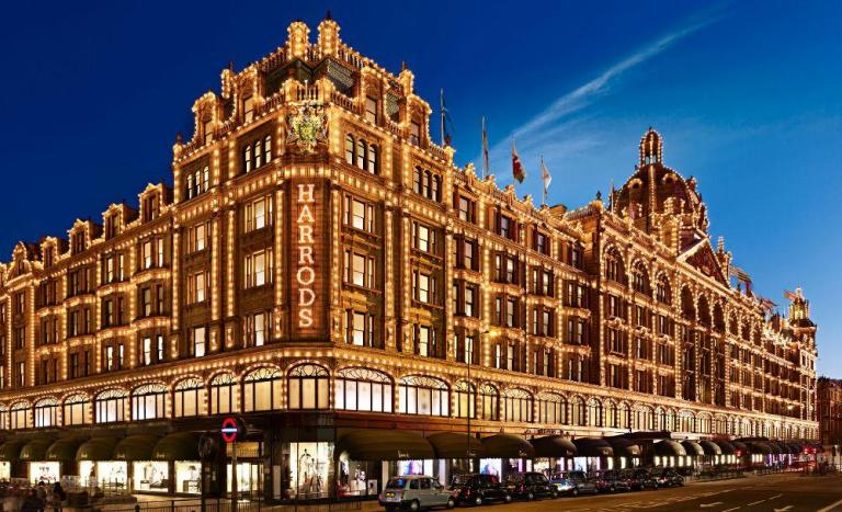 Harrods in London shopping