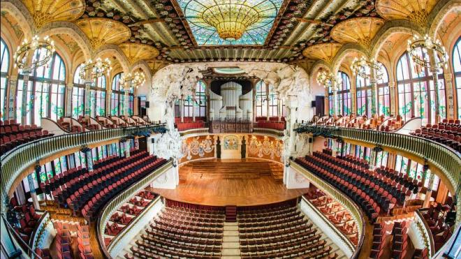 Palau de la Music modernist venue in Barcelona